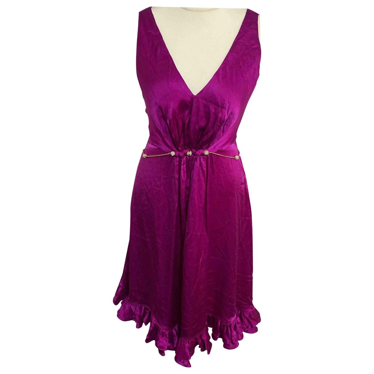 Roberto Cavalli - Robe   pour femme en soie - rose