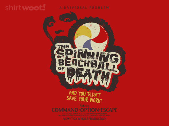 Beachball Of Death Horror Movie T Shirt