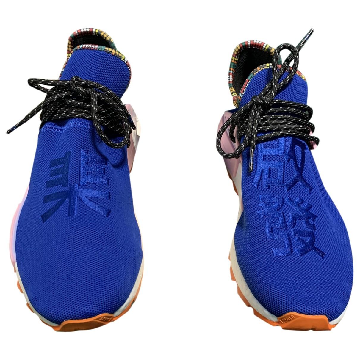 Adidas X Pharrell Williams - Baskets NMD Hu pour homme en suede - bleu