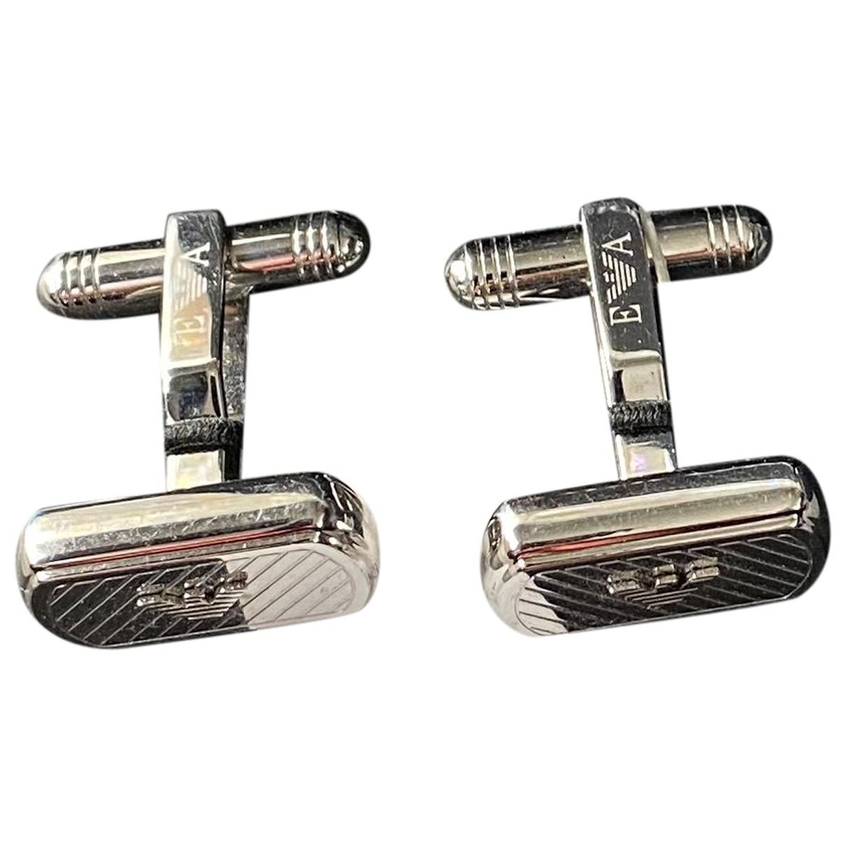 Emporio Armani N Silver Silver Plated Cufflinks for Men N