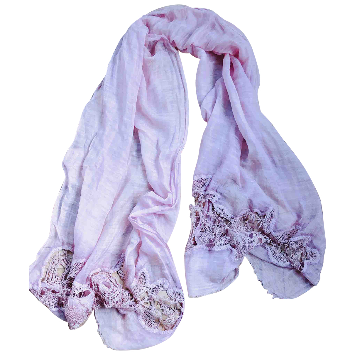 - Foulard   pour femme en lin - rose