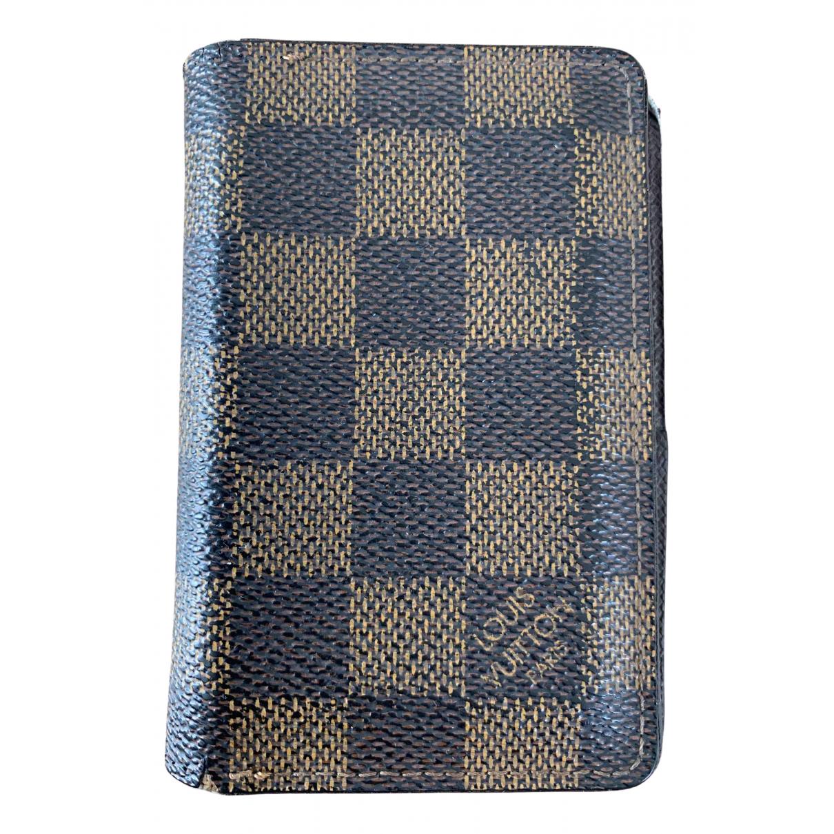 Louis Vuitton - Petite maroquinerie Pocket Organizer pour homme en toile - marron