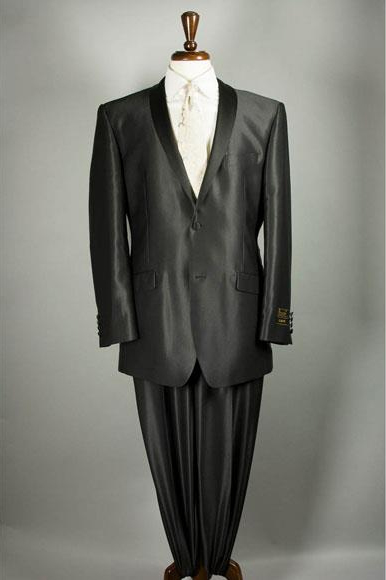 Mens Shiny Flashy Sharkskin Black Suit 2 Buttons Style Tuxedo Suit