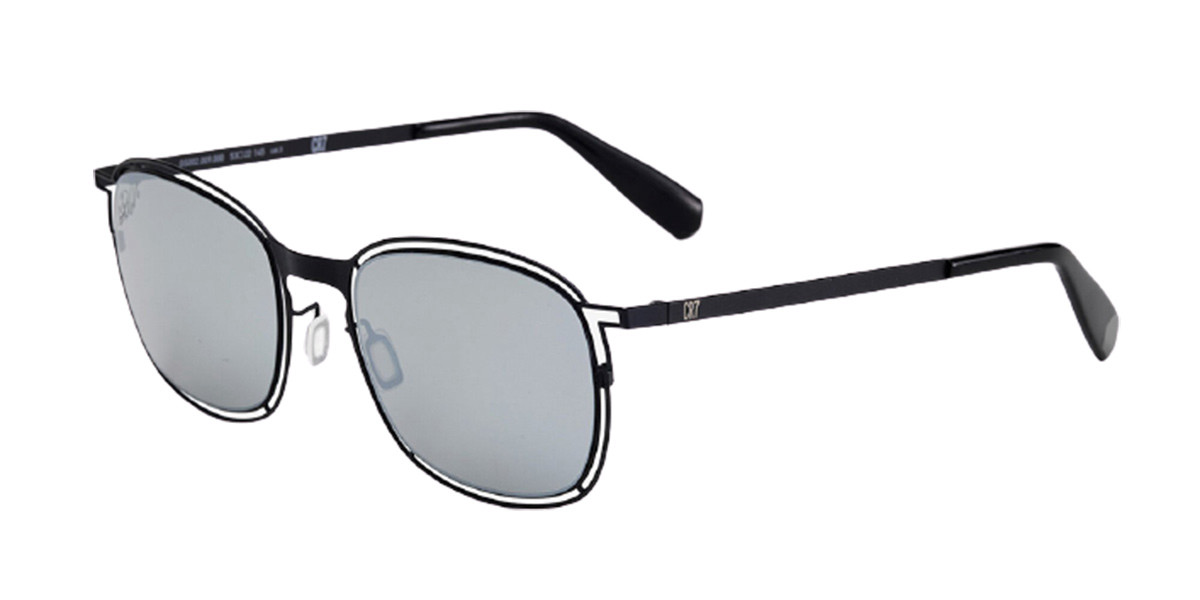 CR7 Cristiano Ronaldo GS002 009000 Men's Sunglasses Black Size 53
