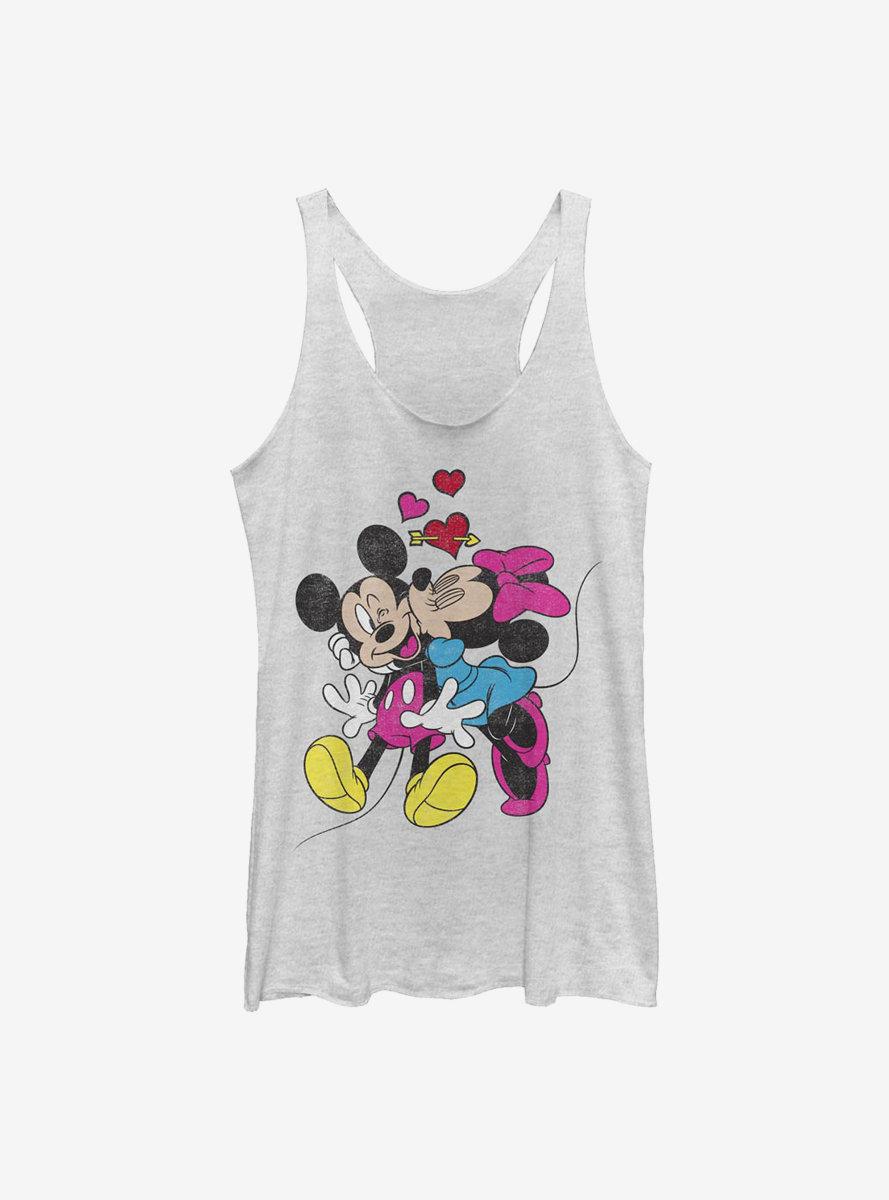Disney Mickey Mouse Minnie Love Womens Tank Top
