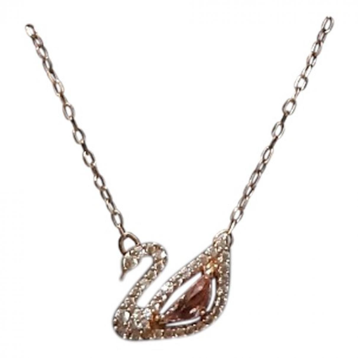 Swarovski - Collier   pour femme en metal - rose