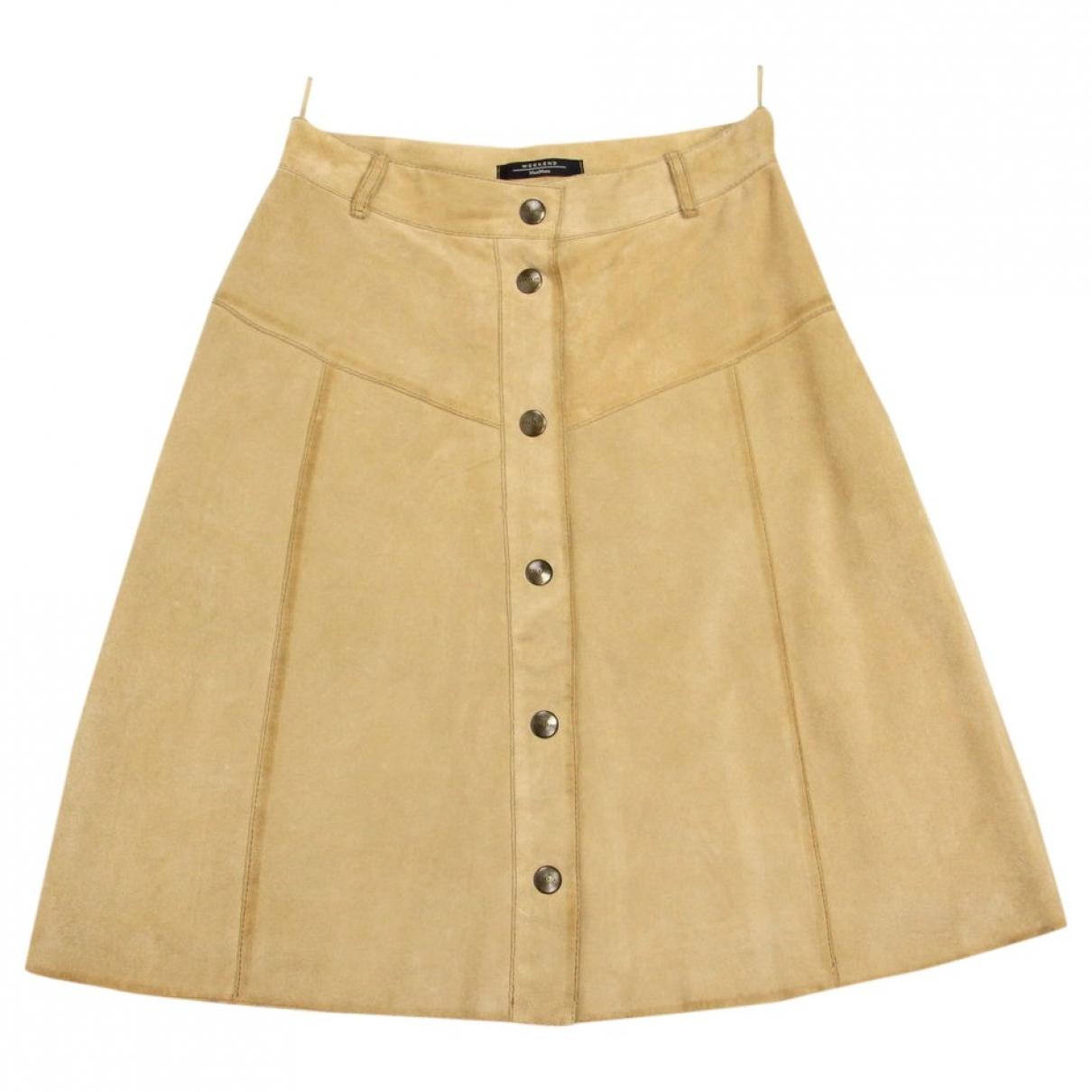 Max Mara Weekend \N Brown Suede skirt for Women S International