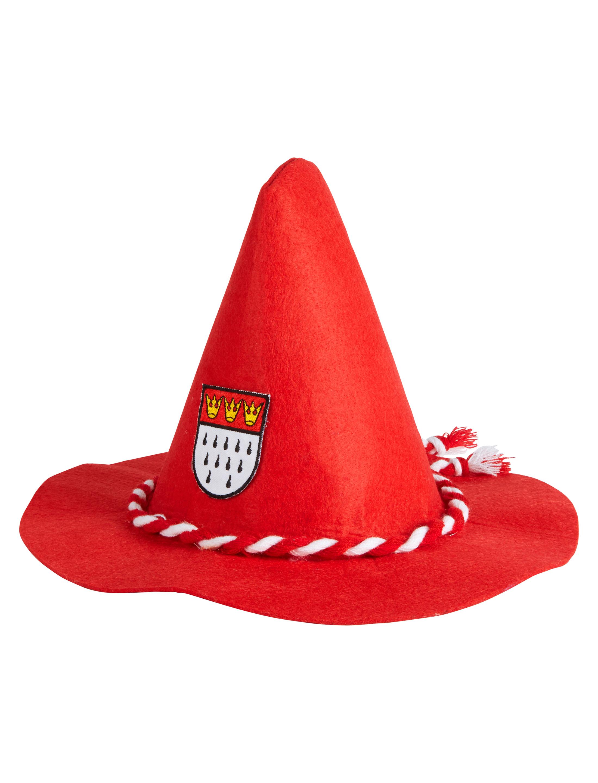 Sepplhut mit Koln Wappen rot