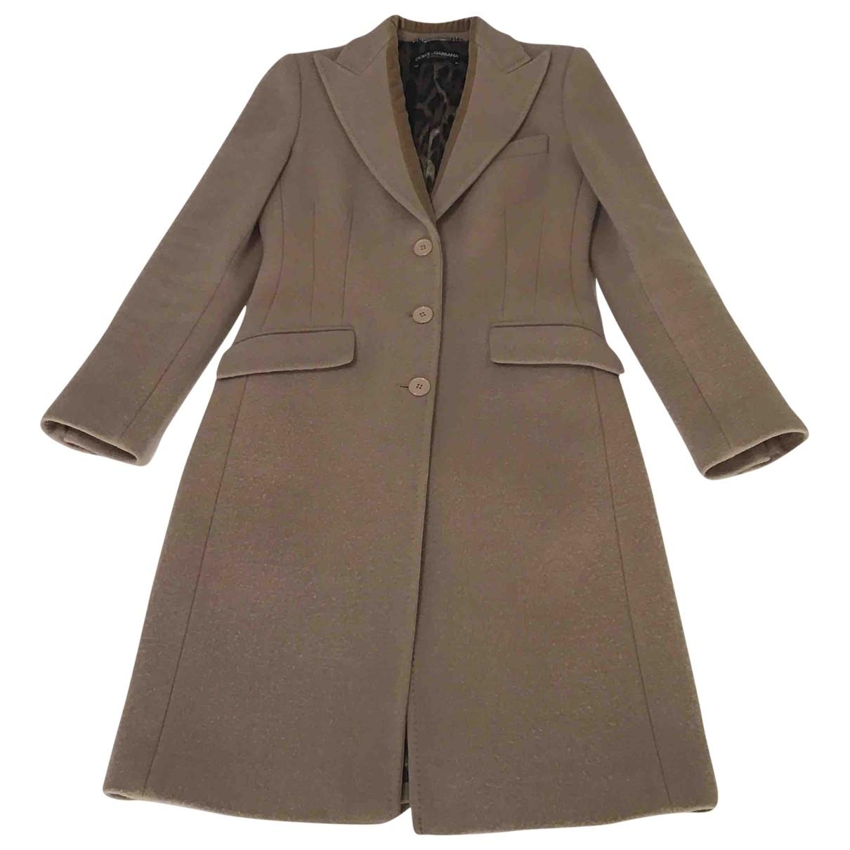 Dolce & Gabbana \N Camel Wool coat for Women 40 IT