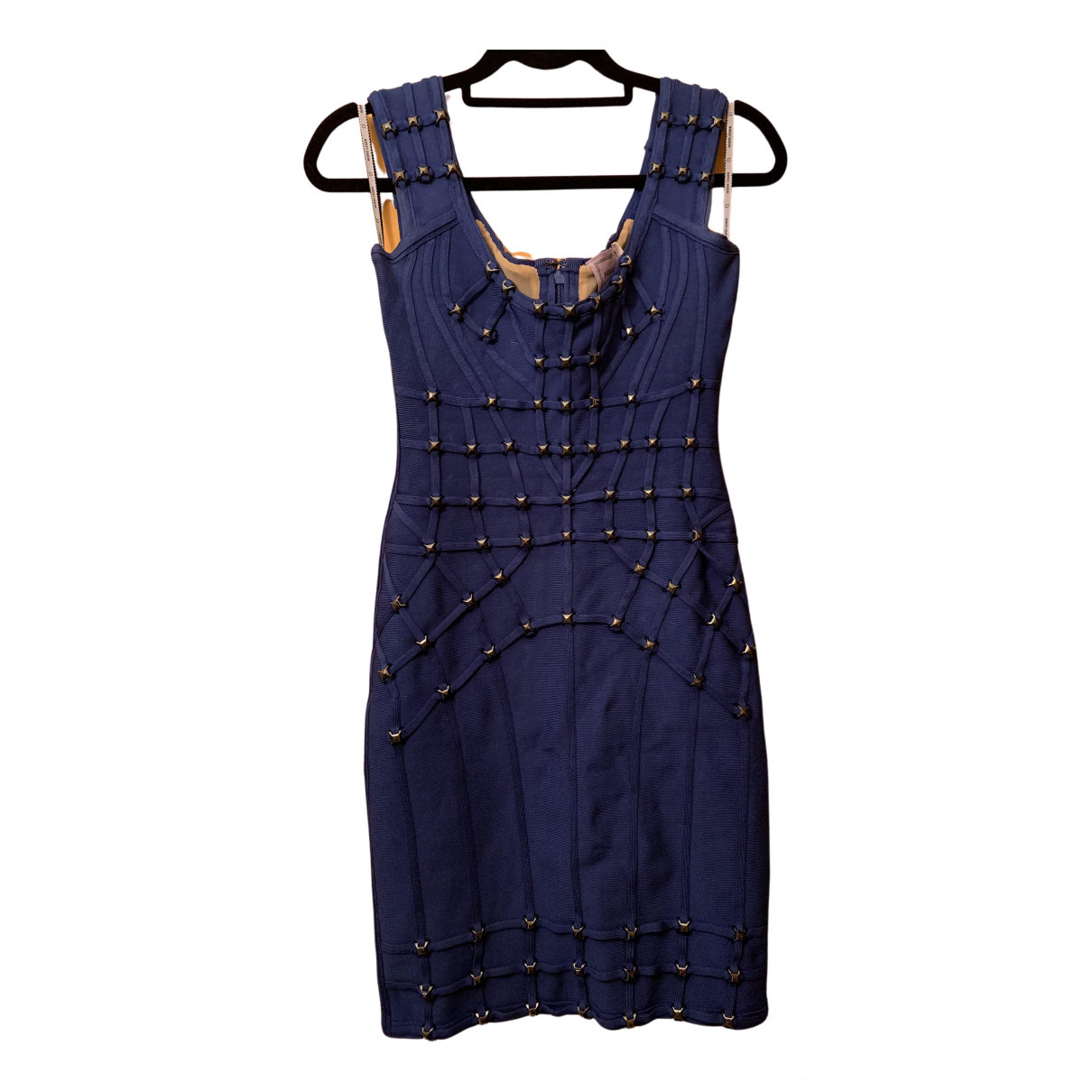 Herve Leger \N Blue dress for Women 36 FR