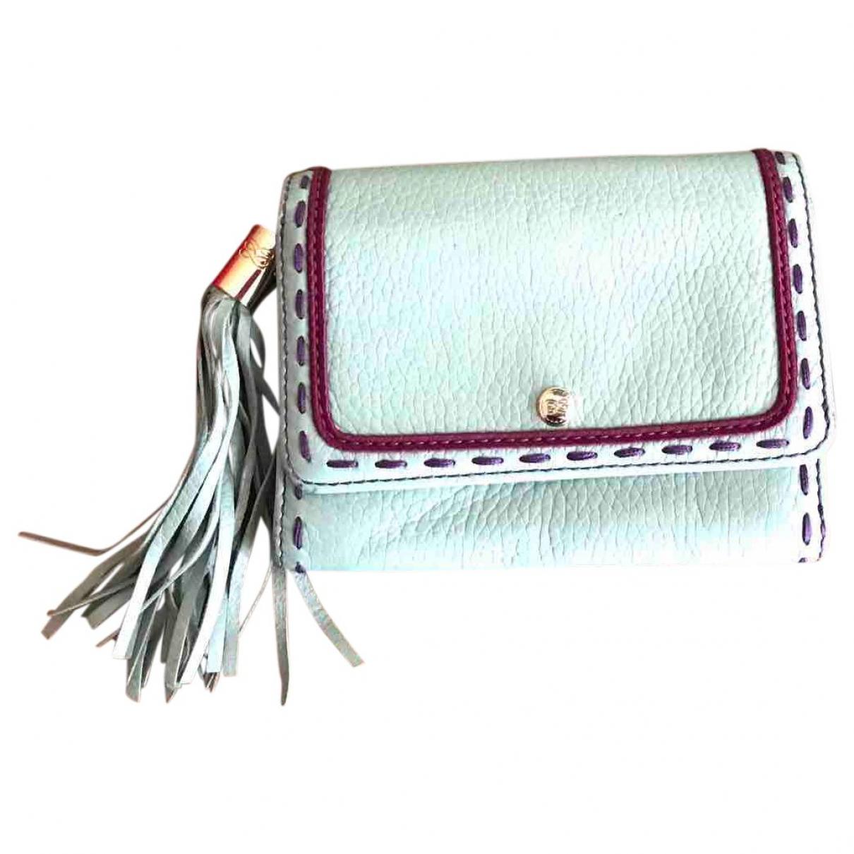Lancel \N Portemonnaie in  Blau Leder