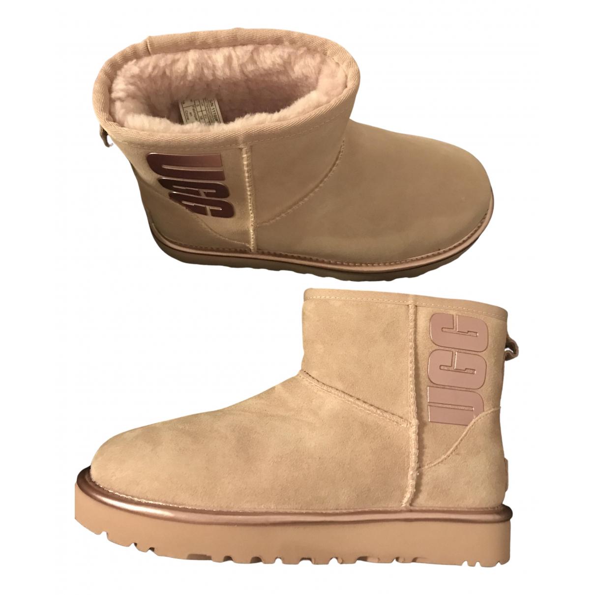 Ugg - Boots   pour femme en mouton - rose