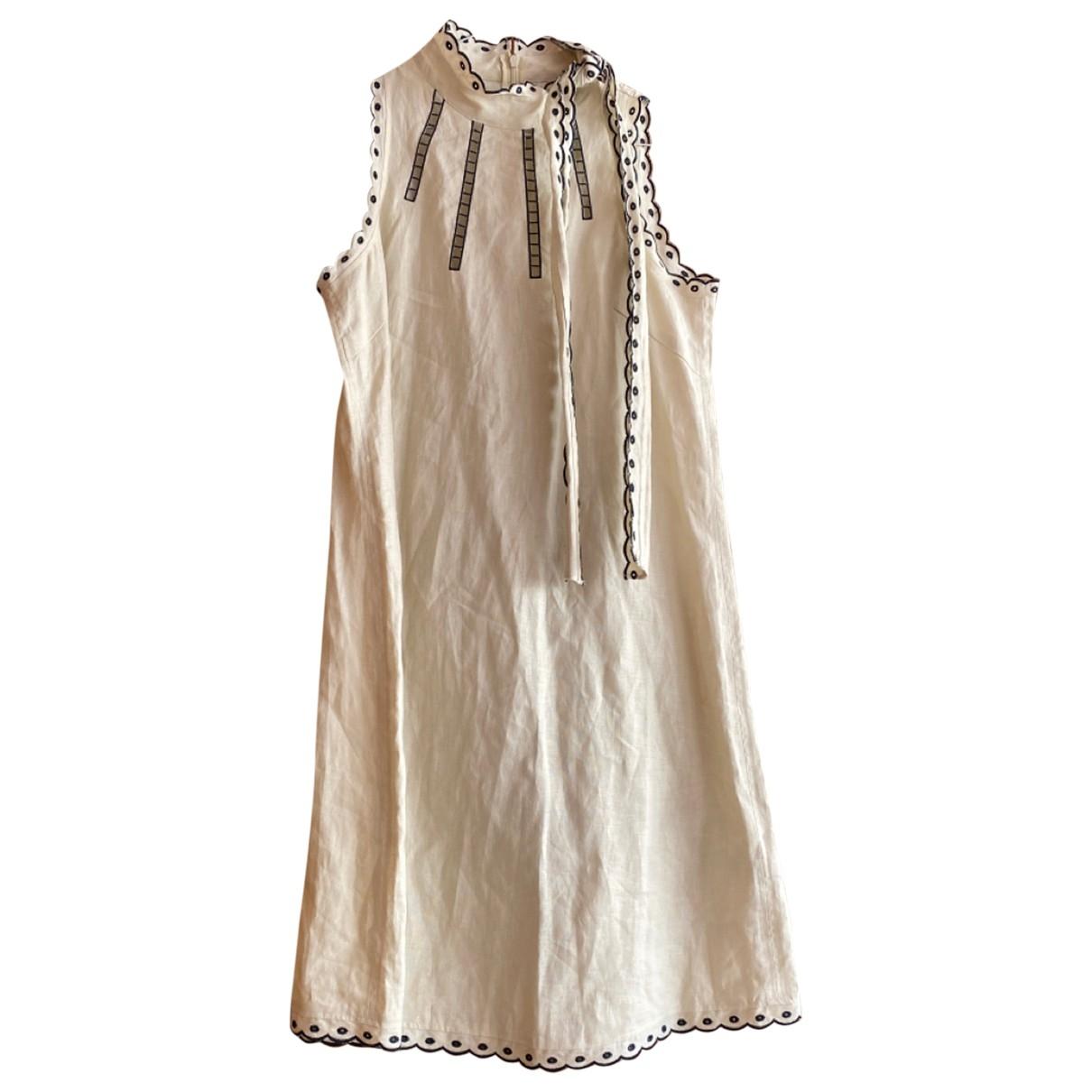 Max Mara \N Kleid in  Beige Leinen