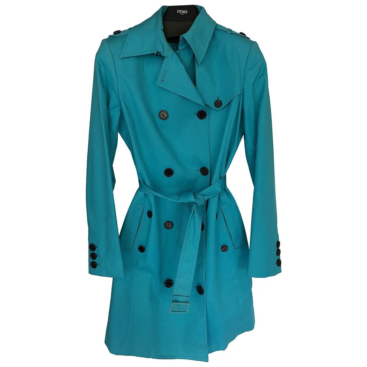 - Trench   pour femme en coton - turquoise