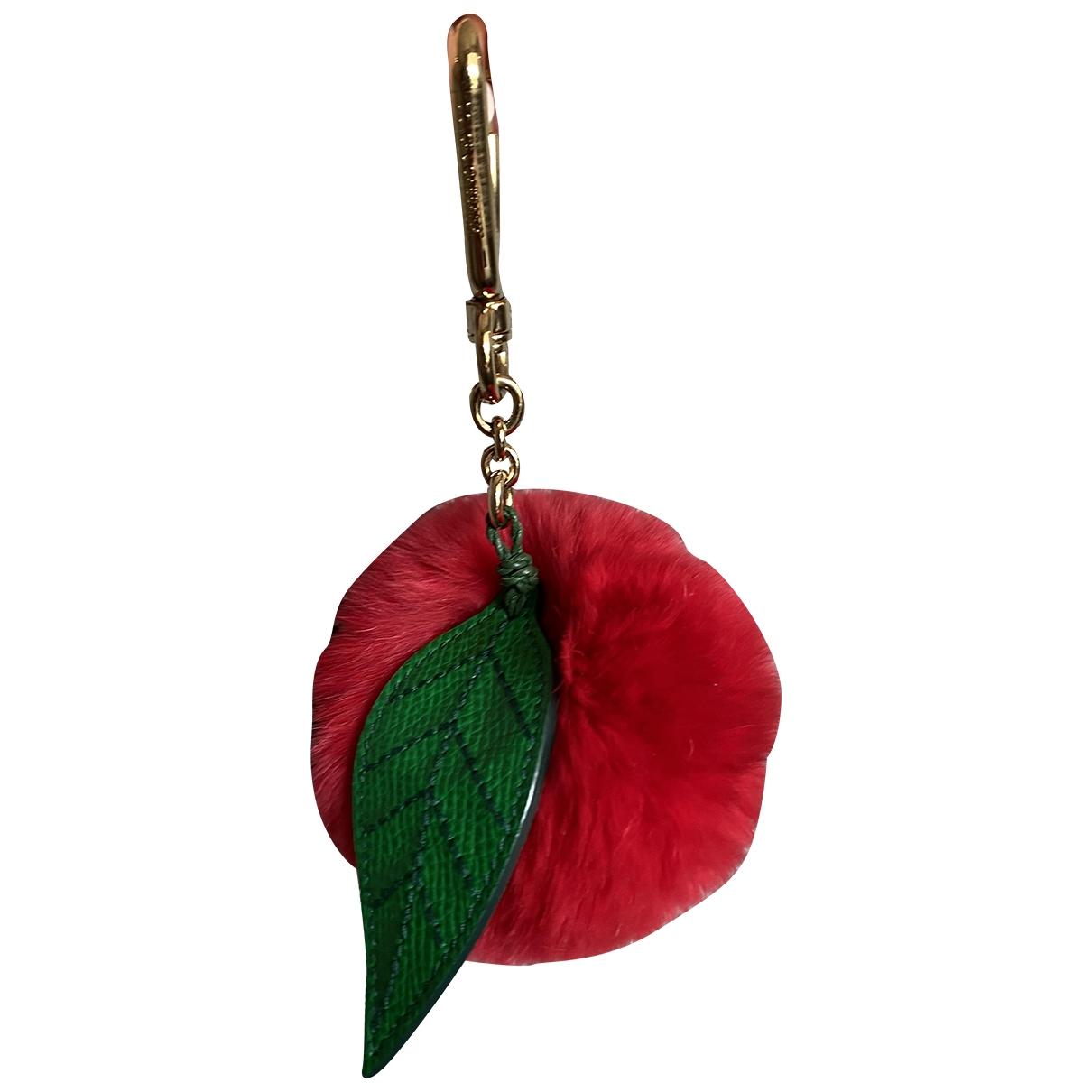 Dolce & Gabbana \N Taschenschmuck in  Rot Kaninchen