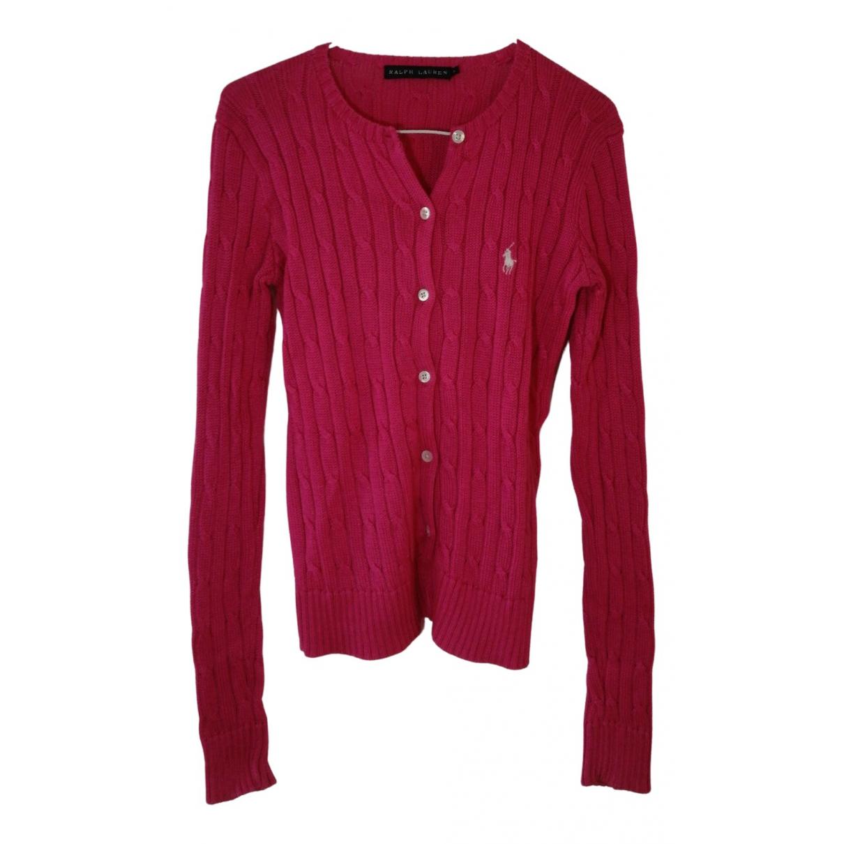 Ralph Lauren - Pull   pour femme en coton - rouge