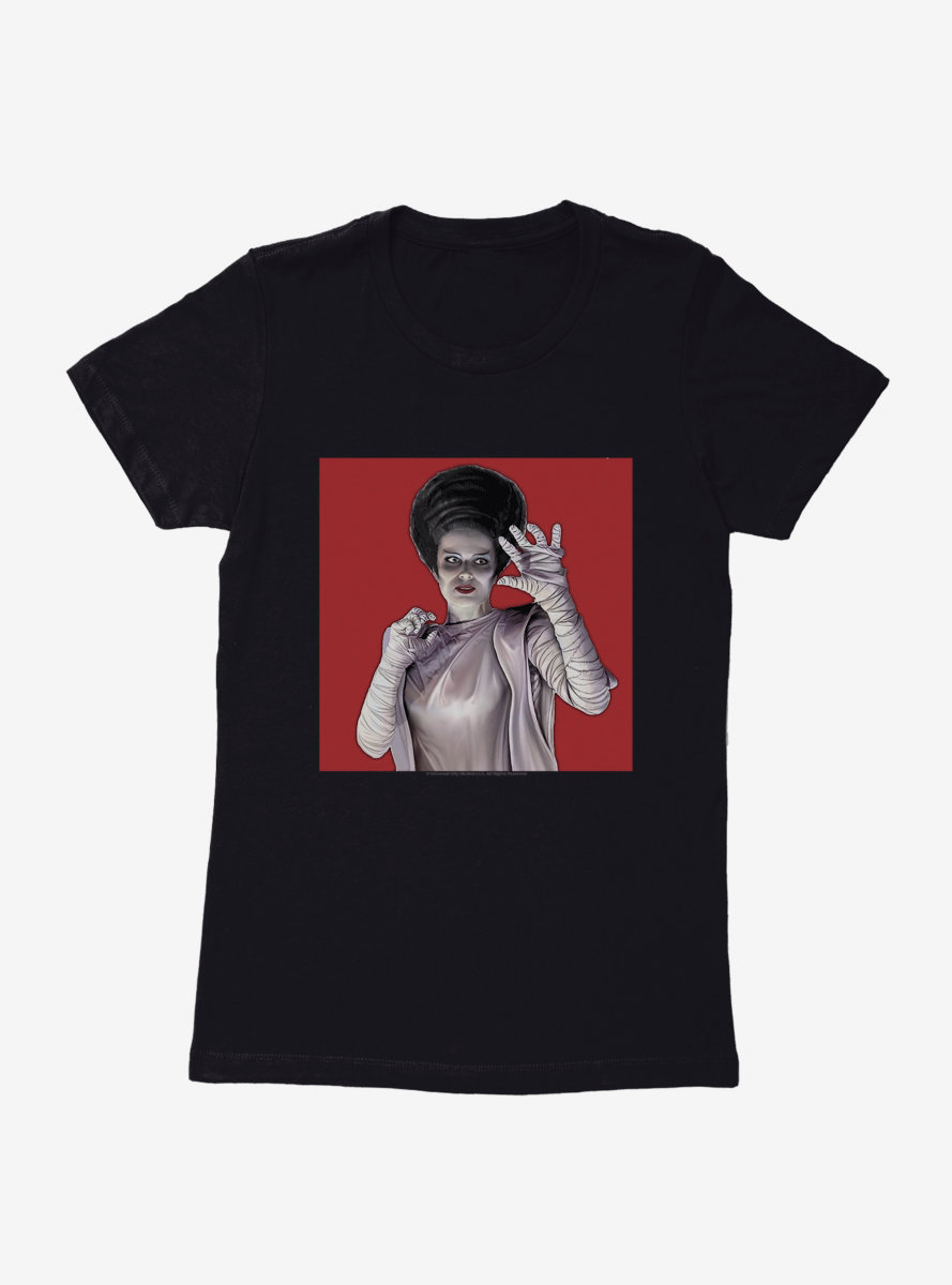 Universal Monsters Bride Of Frankenstein Hands Womens T-Shirt