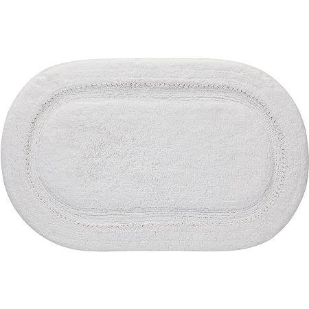 Creative Bath Ruffles Bath Rug, One Size , White