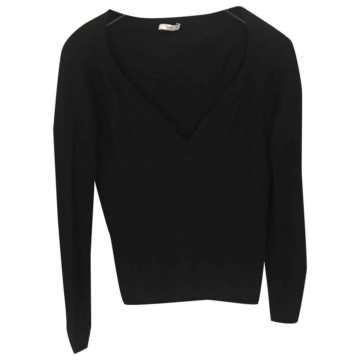 Prada \N Black Cashmere Knitwear for Women 40 IT