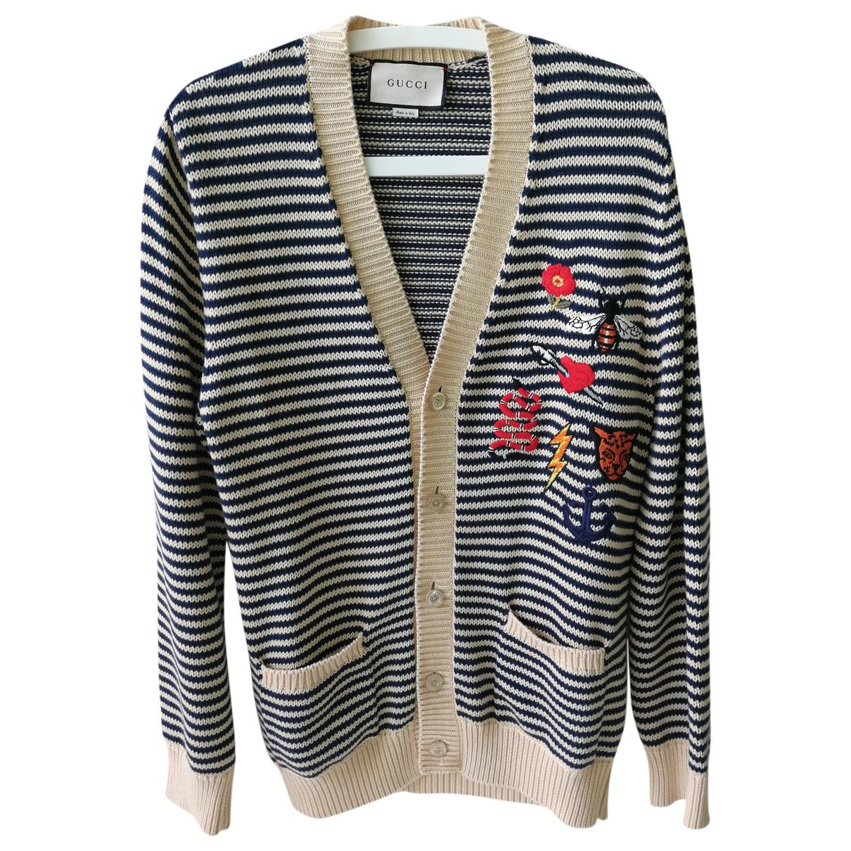 Gucci \N Pullover.Westen.Sweatshirts  in  Marine Baumwolle