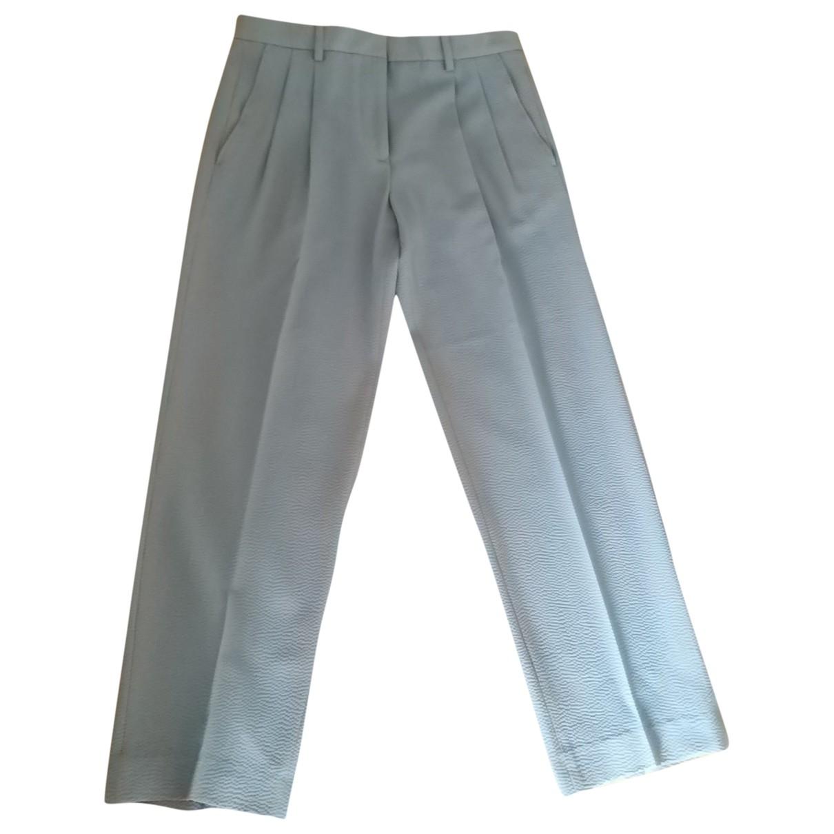 Giorgio Armani \N Grey Wool Trousers for Women 38 IT