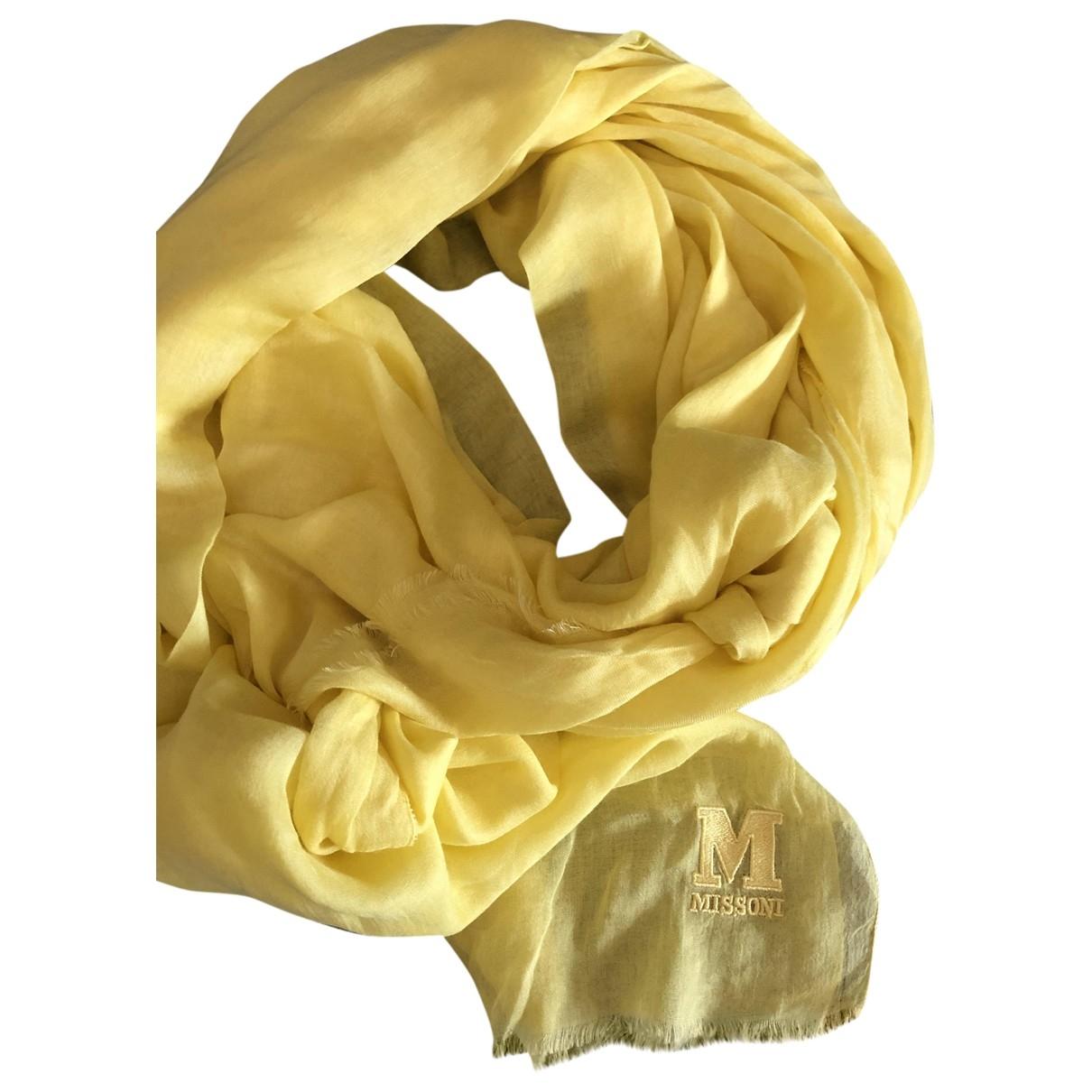 M Missoni \N Yellow Cotton scarf for Women \N