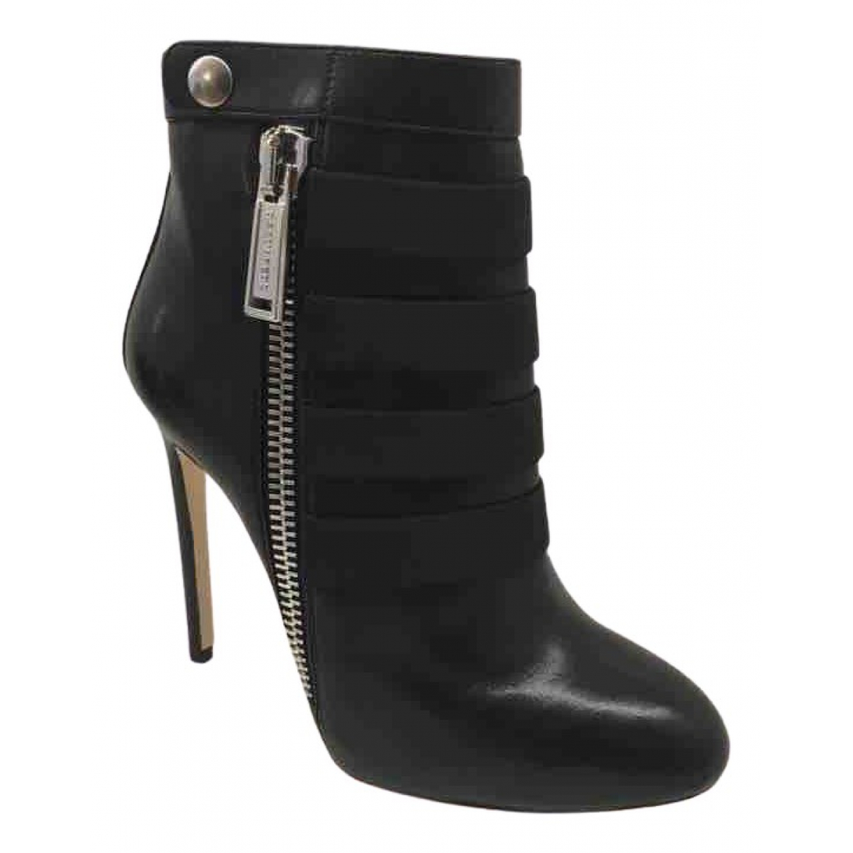 Dsquared2 \N Black Leather Ankle boots for Women 35 EU