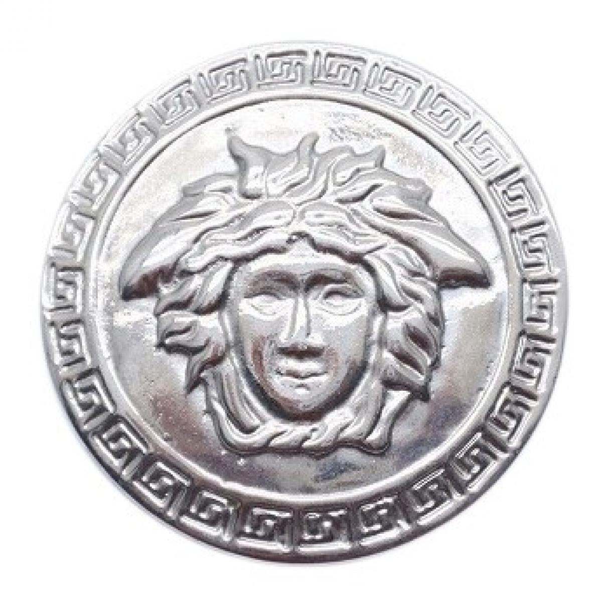 Versace - Broche Medusa pour femme en metal - argente