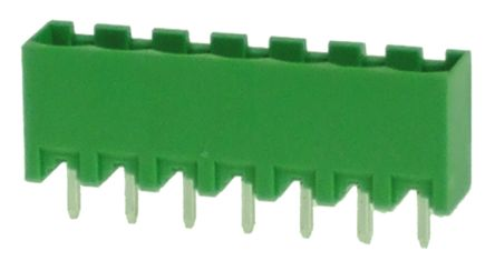 RS PRO , 7 Way, 1 Row, Straight PCB Terminal Block Header (10)
