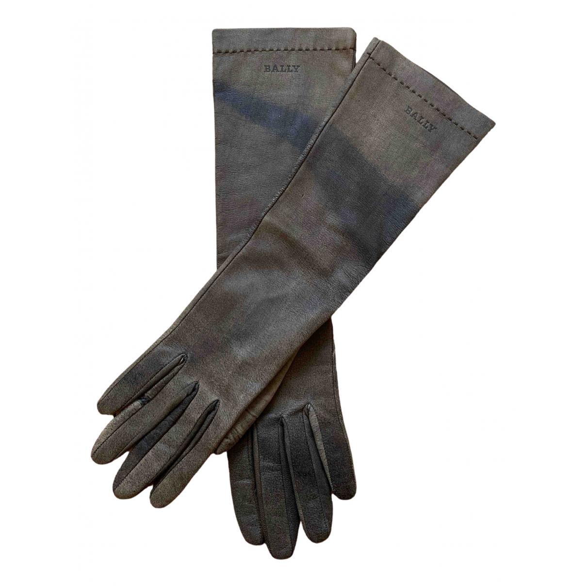 Bally \N Handschuhe in  Braun Veloursleder