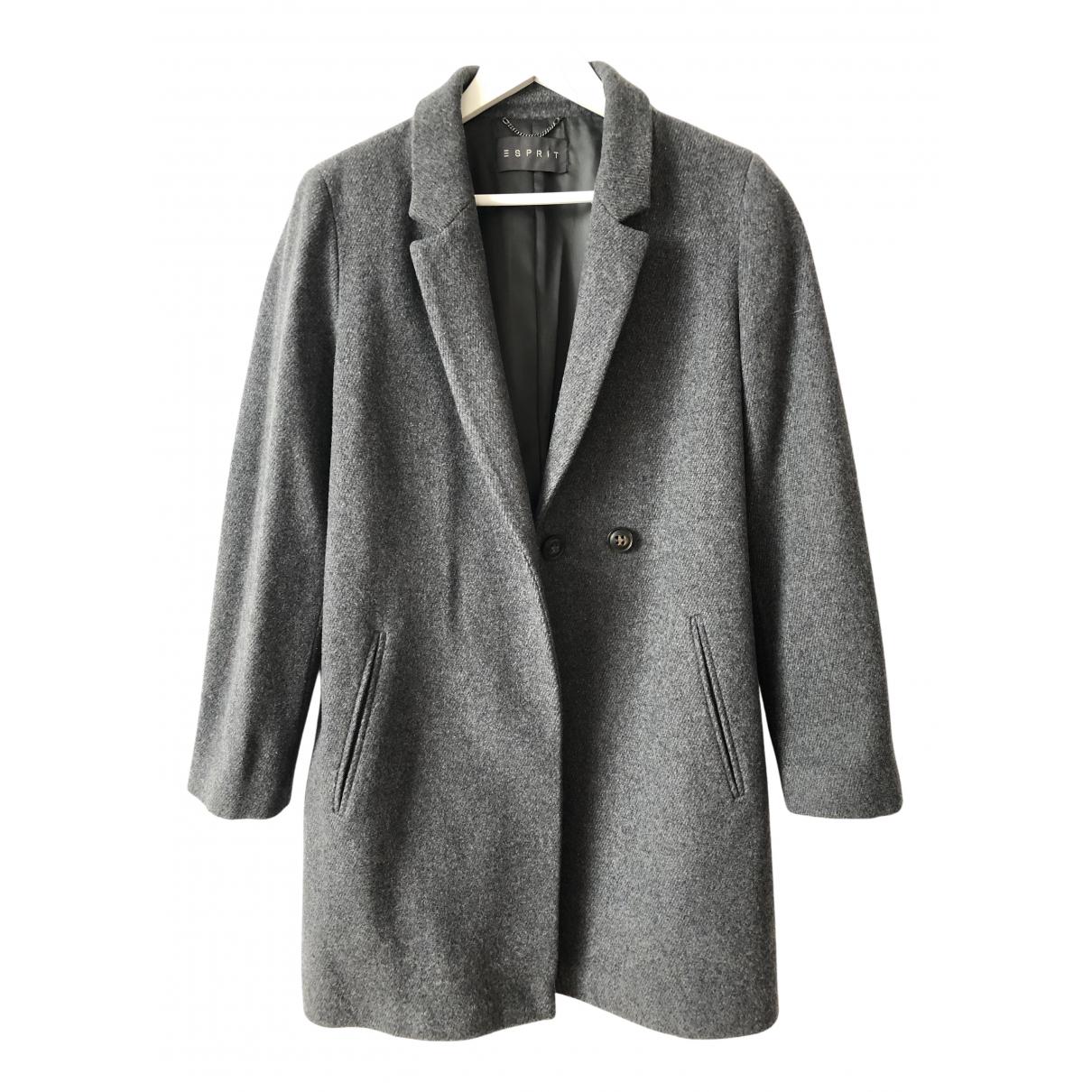 Esprit N Grey Wool coat for Women 44 IT