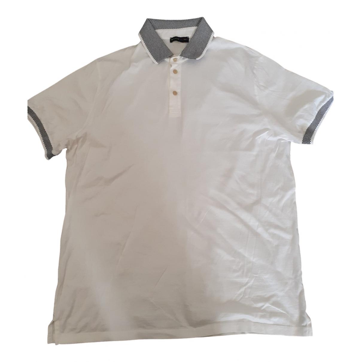 Polo en Algodon Blanco Etro