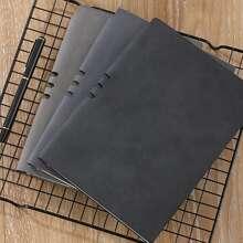 1 Stueck Zufaellige Farbe Notizbuch mit PU Deckel