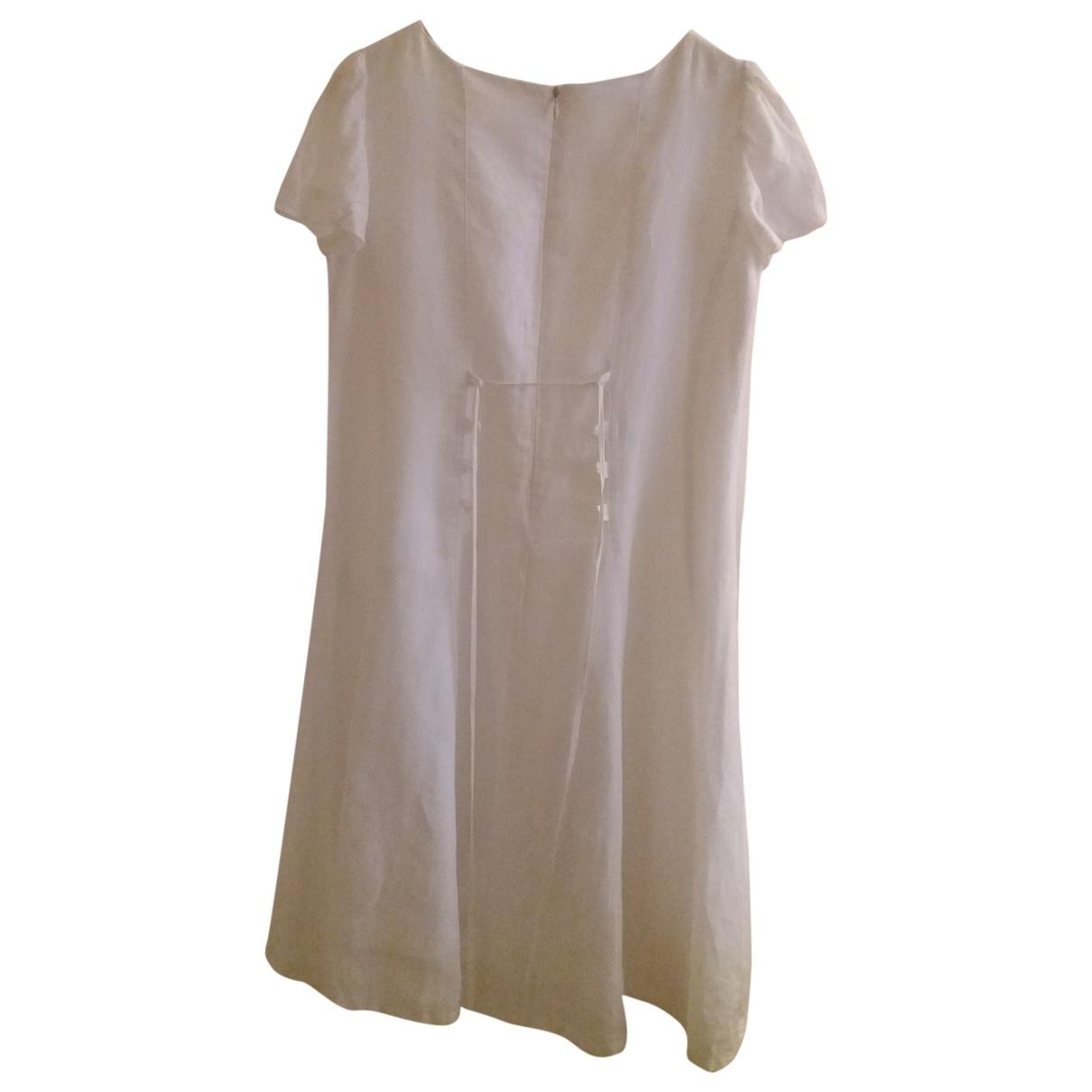 - Robe    pour enfant en lin - blanc