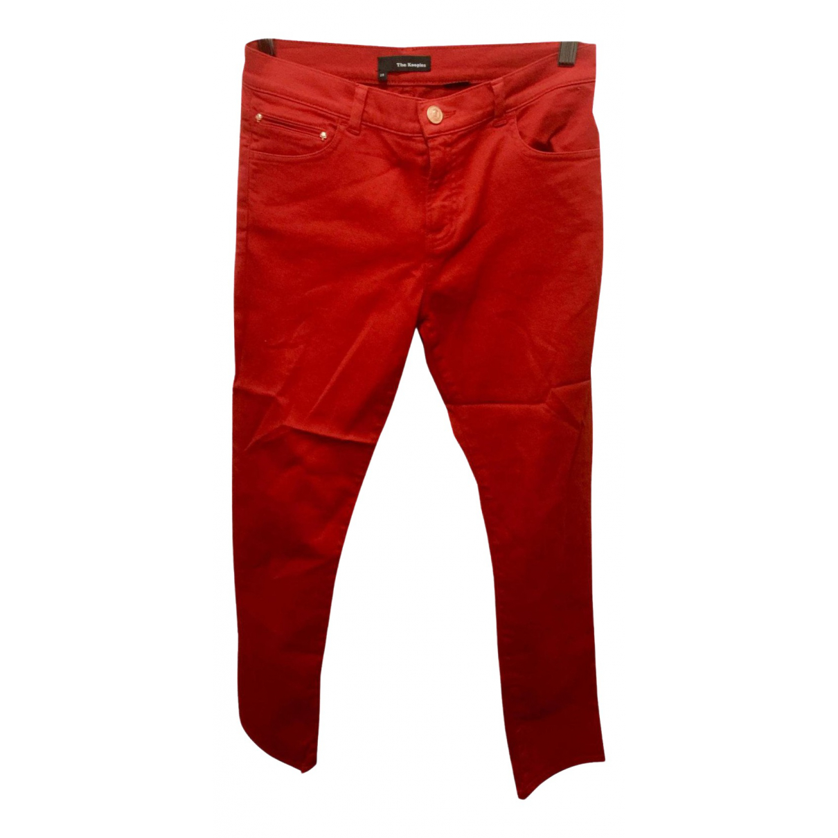 The Kooples Spring Summer 2020 Red Cotton - elasthane Jeans for Women 28 US