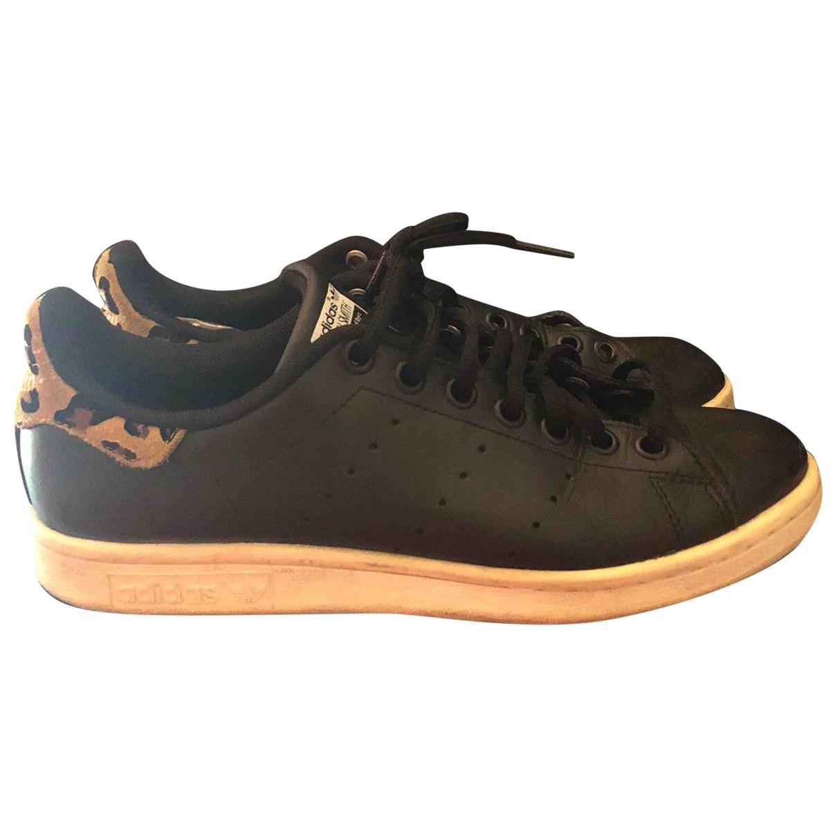 Adidas - Baskets Stan Smith pour femme en cuir - noir