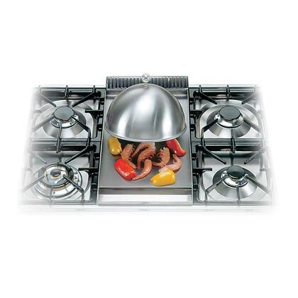 G04003 Cover for Ilve Fry-Top Griddle. Heavy Stainless Steel Dome for Heat Retention  Steaming  and Simmering.Top Mounted Ball handle for easy