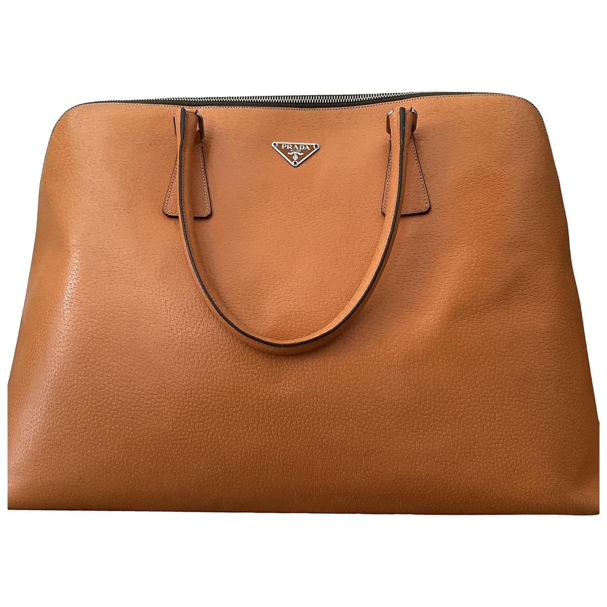 Prada \N Orange Leather handbag for Women \N