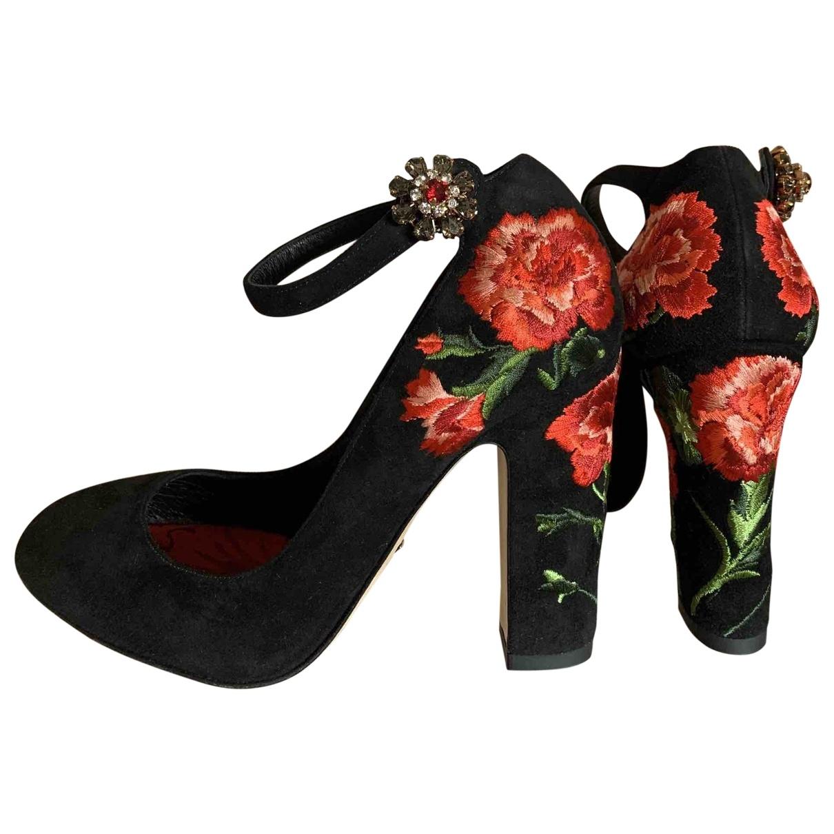 Dolce & Gabbana \N Pumps in  Schwarz Veloursleder