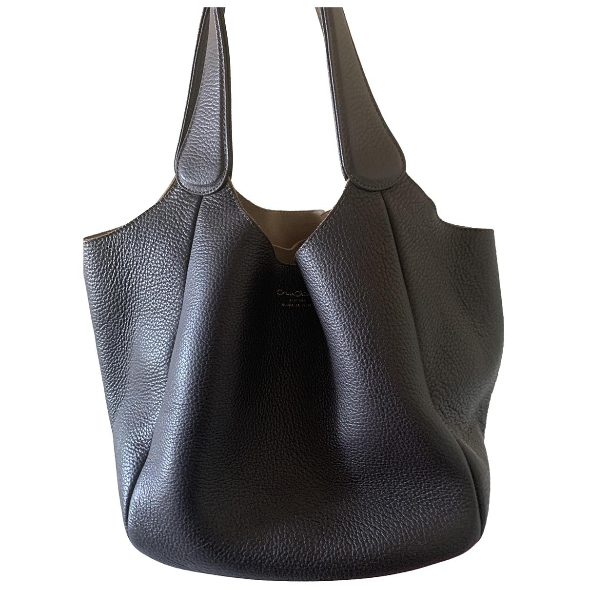 Cruciani \N Handtasche in  Braun Leder