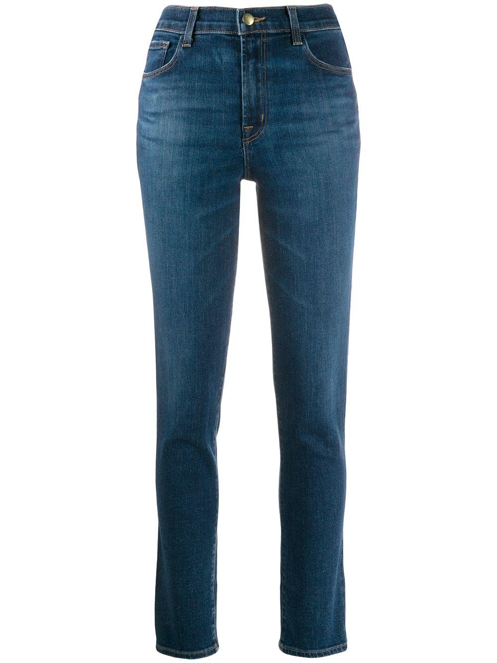 High Rise Crop Cigarette Ruby Jeans