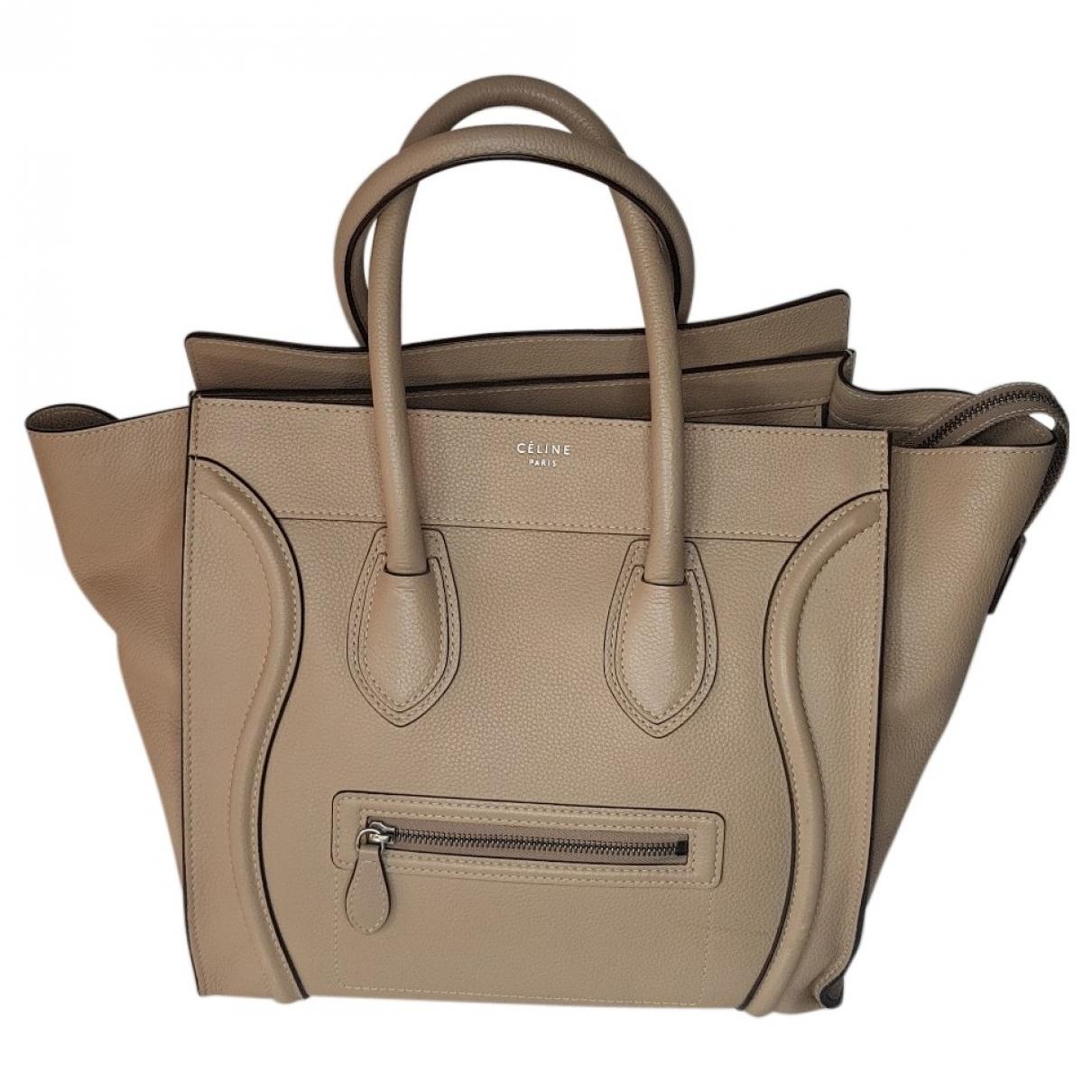 Celine Luggage Beige Leather handbag for Women N
