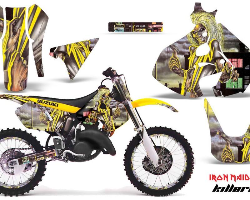AMR Racing Graphics MX-NP-SUZ-RM125-99-00-IM KILL Kit Decal Sticker Wrap + # Plates For Suzuki RM125 1999-2000 IM KILLERS