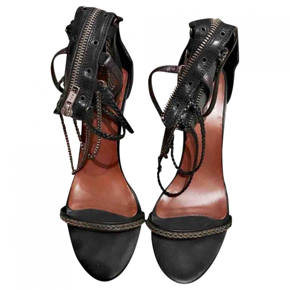 Isabel Marant \N Black Leather Sandals for Women 39 EU