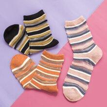 3 Paare Socken mit Streifen