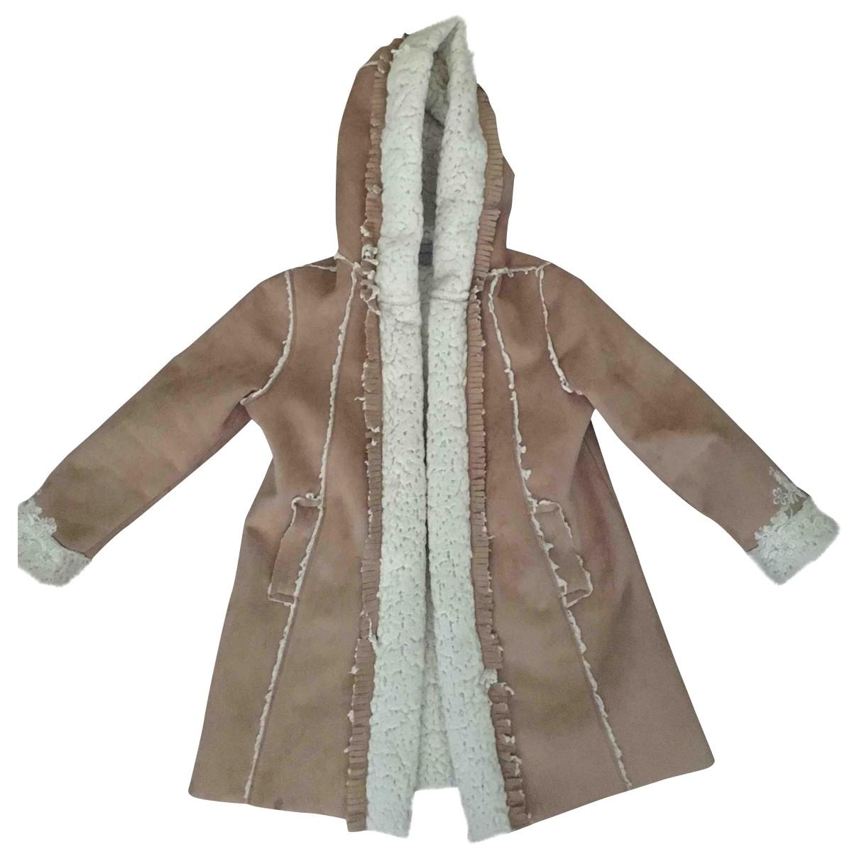 Ermanno Scervino - Blousons.Manteaux   pour enfant en suede - beige