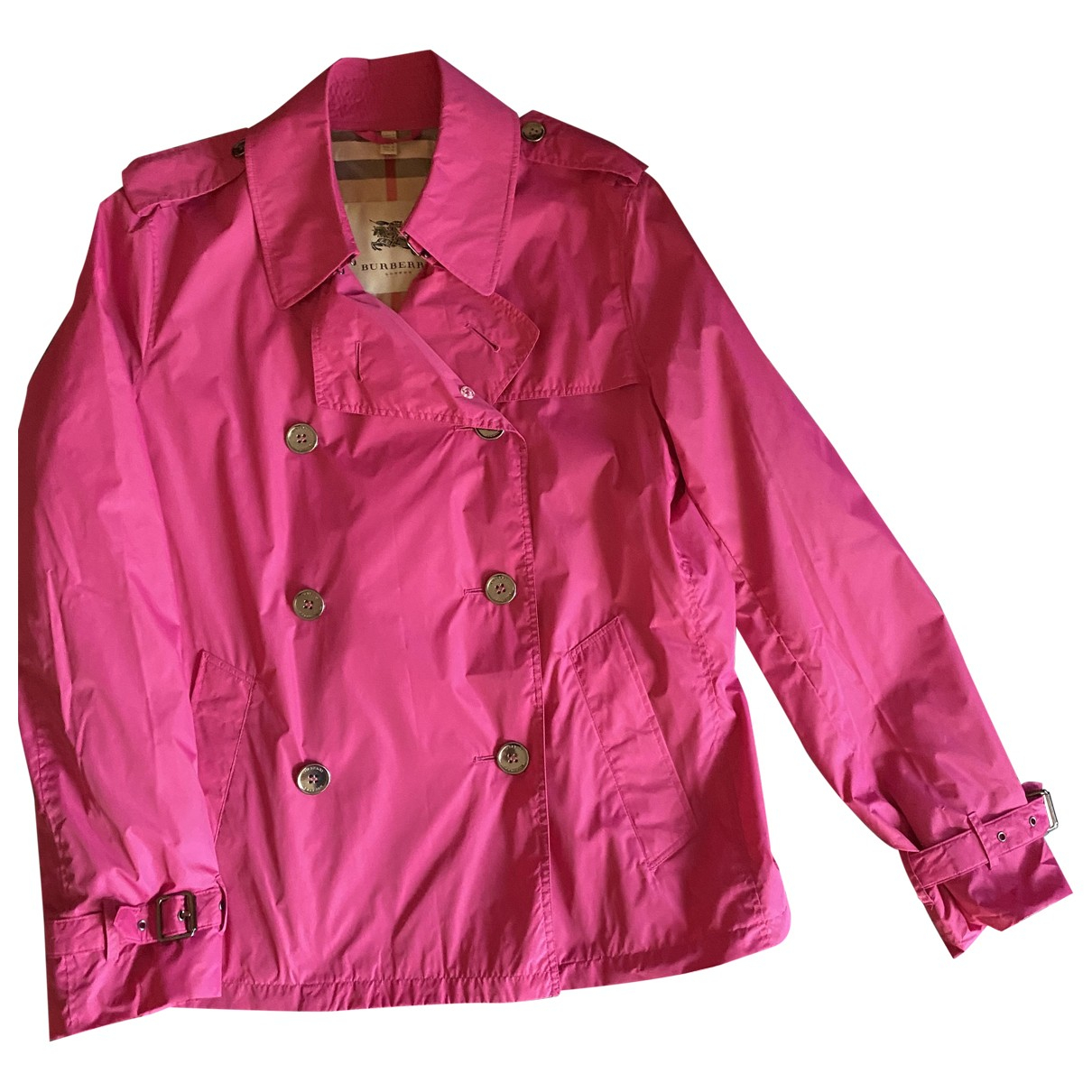 Burberry \N Pink Trench coat for Women 46 IT