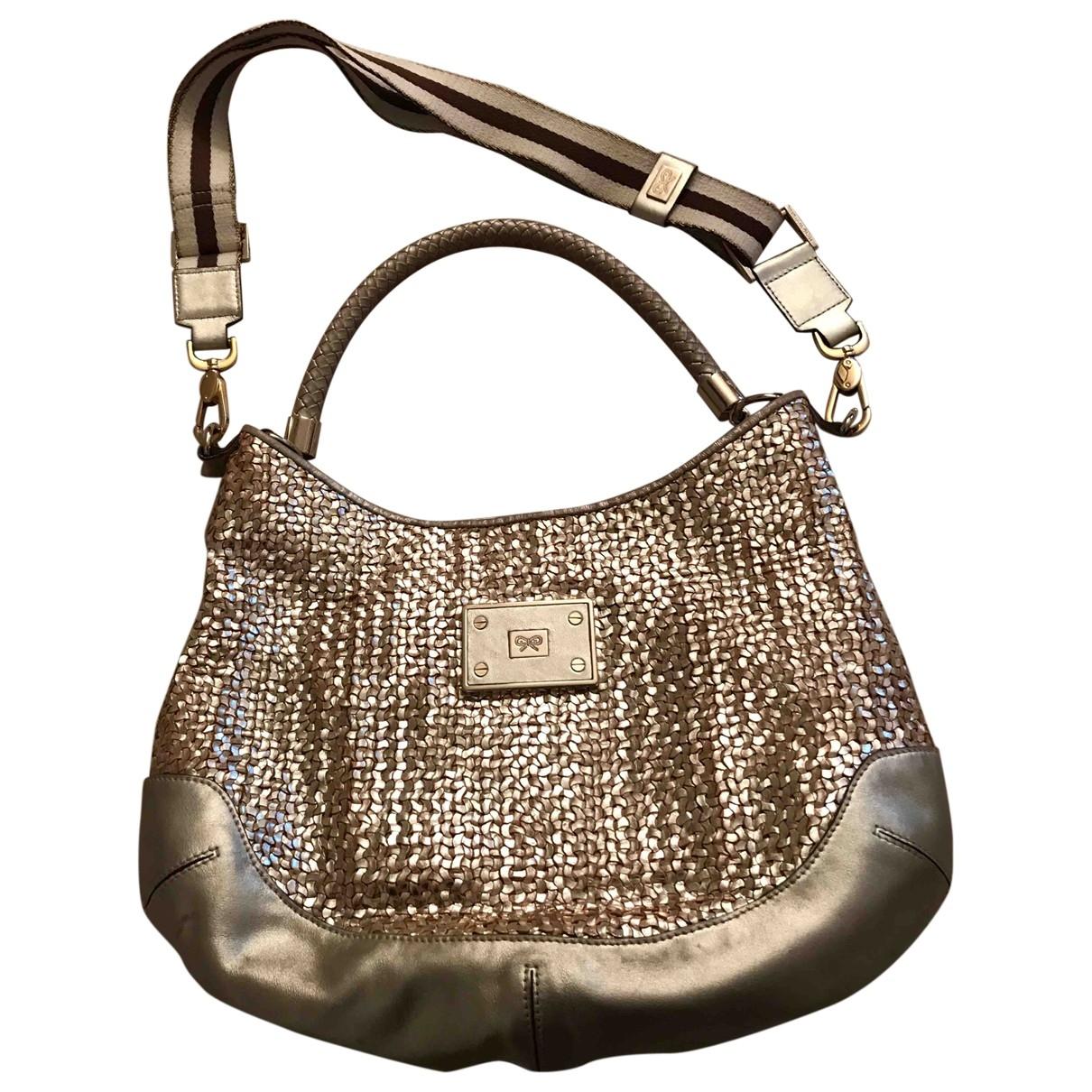 Anya Hindmarch \N Handtasche in  Gold Leder