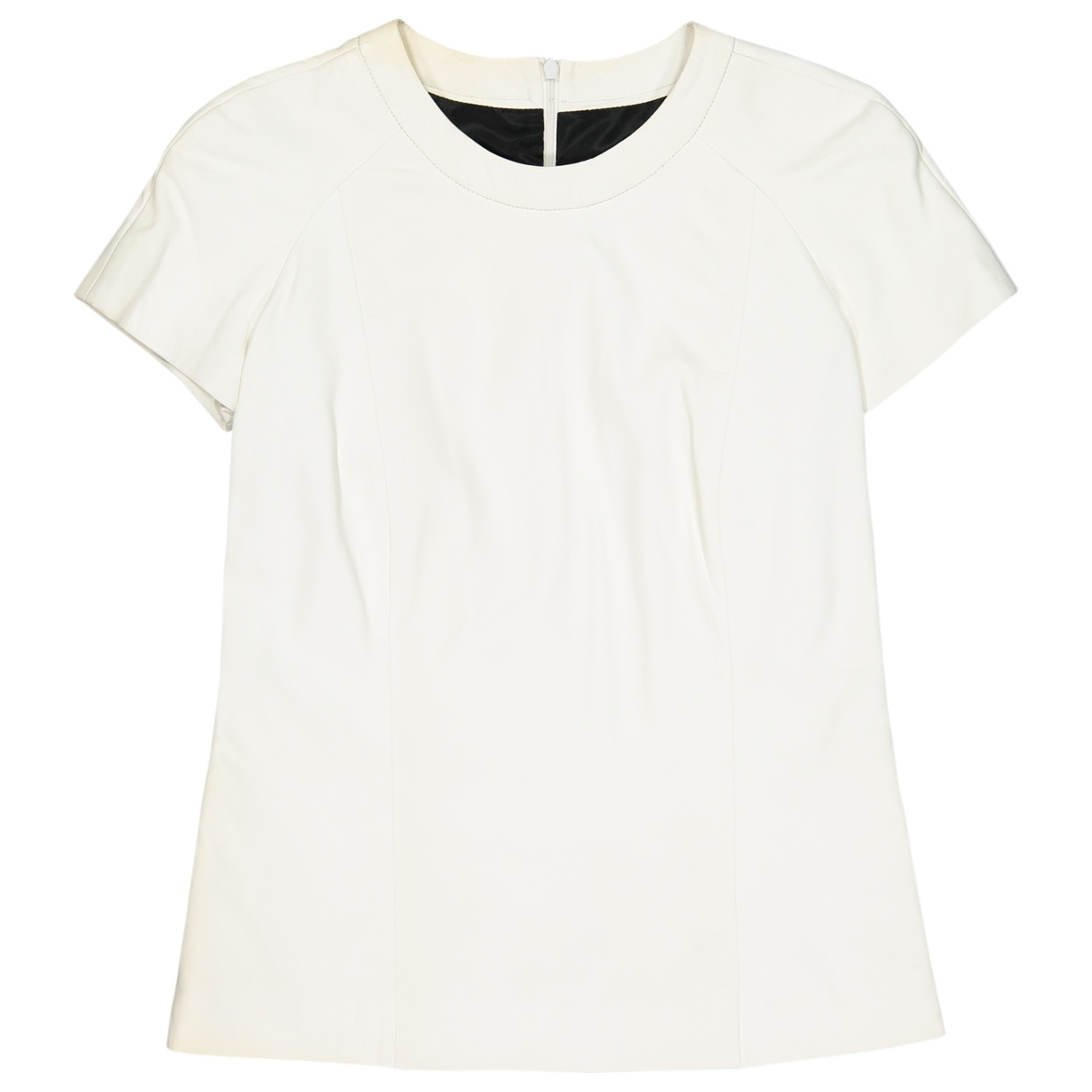 Barbara Bui \N White Leather  top for Women 36 FR