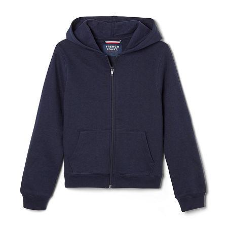French Toast Fleece Hooded Sweatshirt Big Boys Hooded Neck Long Sleeve Sweatshirt, X-large , Blue